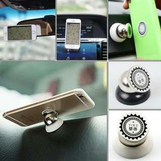 360° Magnetic Car Phone Holder (Silver)
