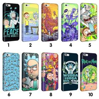 Rick And Morty Phone Covers / Cases [Coloured Sides]