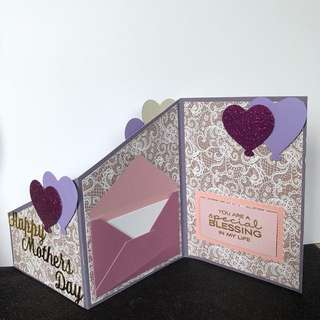 Mother's Day card z fold card