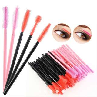 Spooler Curel Eyelash Brush Mascara Wands Silicone Disposable / Reusable