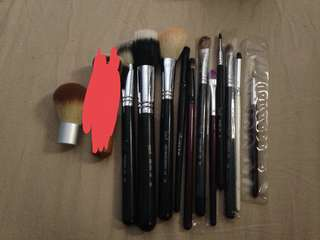 Lot of makeup brushes