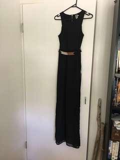 Black dress - sheer maxi skirt