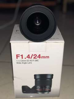 Lensa samyang 24mm f1.4
