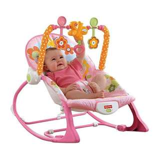 🐸 Blue 💙 or 🌺 Pink 🌸 - 😍New Model Fisher Price Baby Rocker