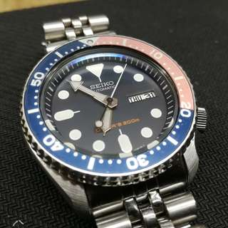 Seiko SKX009K2 Automatic Diver 200m Stainless Steel Bracelet (Day/Date)