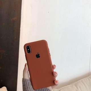 Iphone焦糖色系手機殼