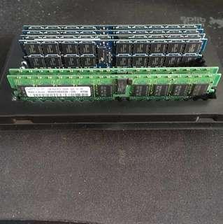 [Used] 2 x 1GB DDR2 ECC Server RAM / Memory (5300P)