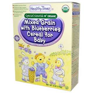 Healthy Times, Organic Cereal for Baby, Mixed Grain with Blueberries