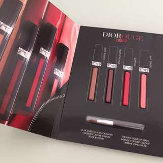 DIOR Rouge Lip Liquid 4 x 0.4ml