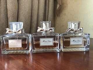 Miss Dior 香水 100ml. 各剩約50%。不議價