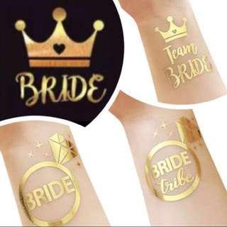 Temporary bridal sticker