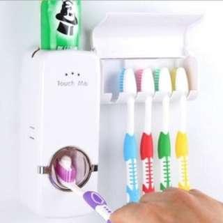 Touch Me Toothpaste Dispenser odol & Brush set sikat gigi unik HPR092
