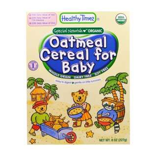 Healthy Times, Organic Cereal for Baby, Oatmeal