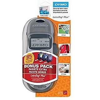 DYMO LetraTag LT-100H Plus Handheld Label Maker with 3 Bonus LetraTag Labeling Tapes