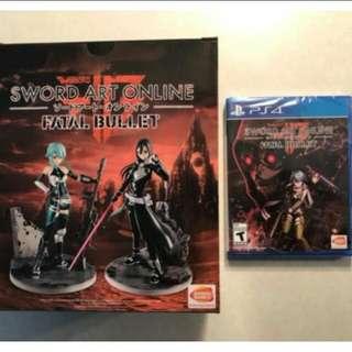 Ps4 Sword Art Online Fatal Bullet collector edition