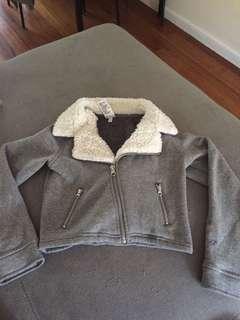 Grey crop jacket