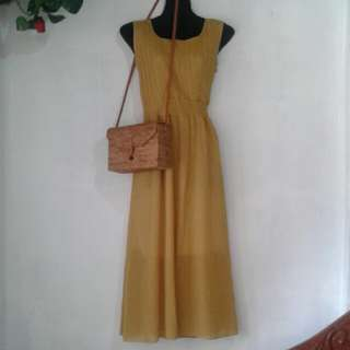 Maternity Mustard Dress
