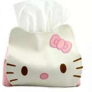 皮革纸巾抽 產品尺寸: 23*13*18.5cm..產品材質: 皮革..可愛的Hello Kitty紙巾盒套,採用進口PU皮製成,做工精緻,方便打理。