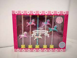Authentic Smiggle Carousel Horses Collectable Eraser