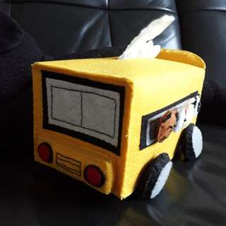 100% Handmade Felt Bus Tissue Holder