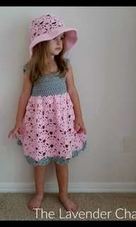 Crochet girls dress