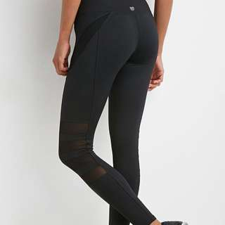 F21 mesh panel workout/active leggings