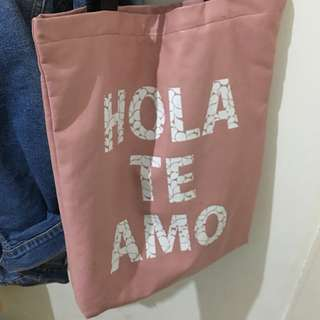 Totebag hola te amo adorable