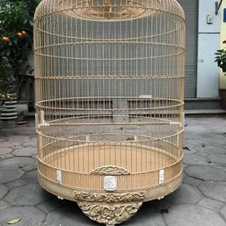 """🇻🇳 23"""" hand carved shama cage with detachable crown"""