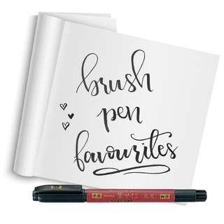 Brush Pens for Hand Lettering - Felt Tip Pens for Brush Lettering (Kuretake, Pilot, Zebra)