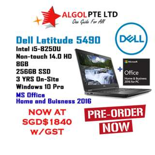"(BNIB) DELL LATITUDE 5490 <I5/8GB/14""/256GB SSD) + (BUNDLE MS OFFICE)  (PRE-ORDER)"