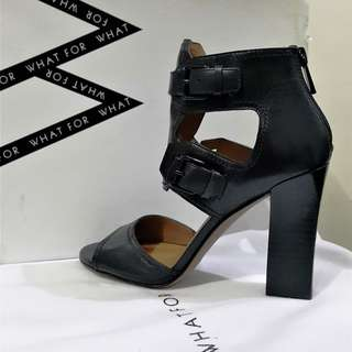 REPRICED!!! Chic high-heel leather sandals from WHAT FOR