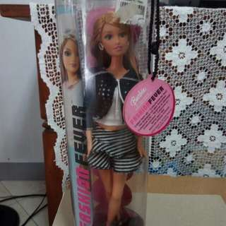 Barbie Fashion Fever Doll Drew with Striped Skirt and White tanktop