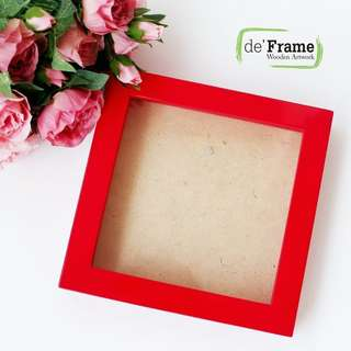 **Clearance Sale** 3D Frame 30x30cm Red