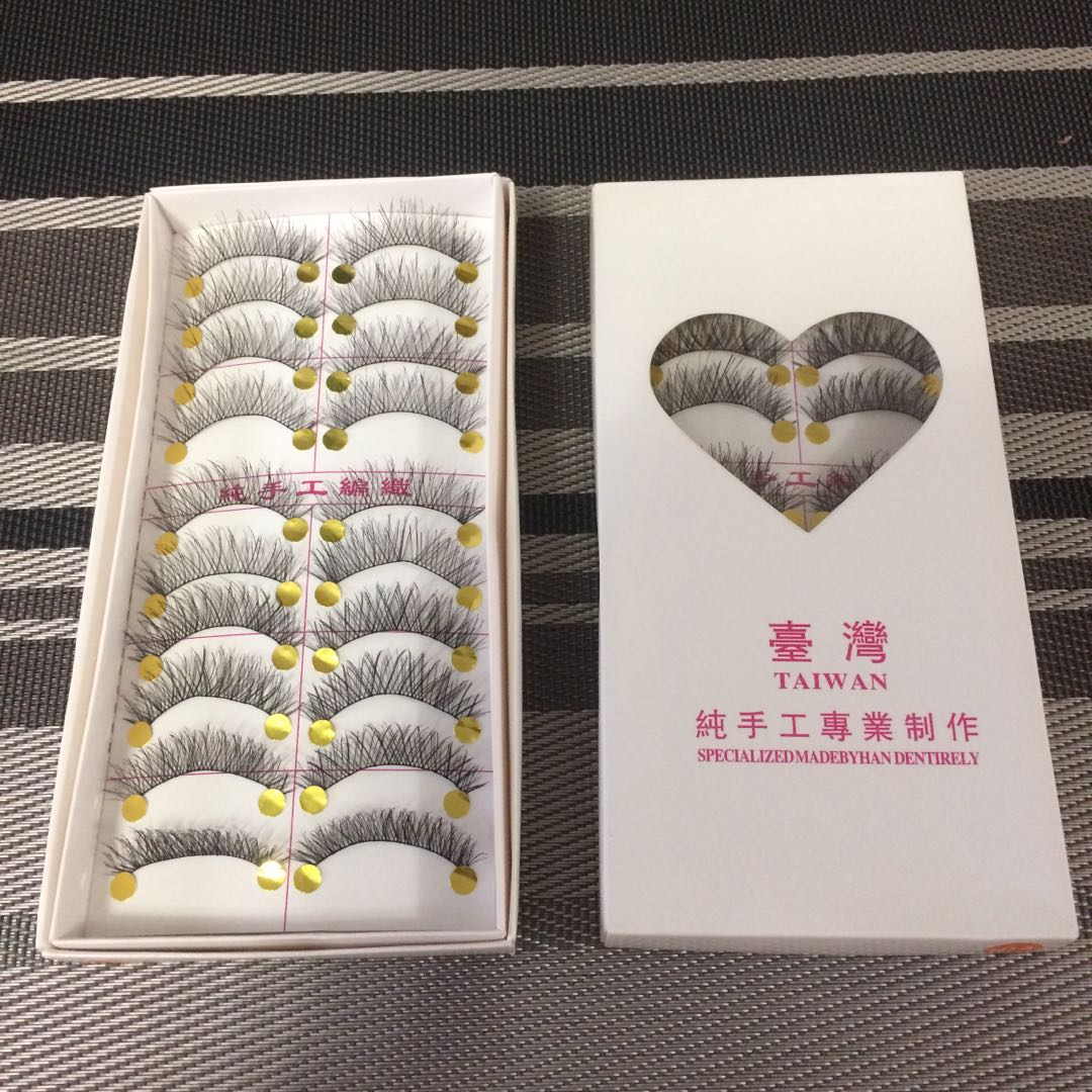 10 pairs eyelashes
