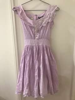 Kitten D'Amour sz 10 Violet Lace Embroidered Dress