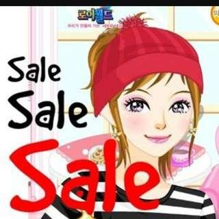 Sale dan free ongkir bagi yg ga nawar!!!