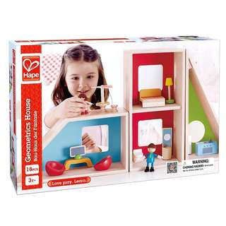 Hape Geometrics Kid's Wooden Doll House