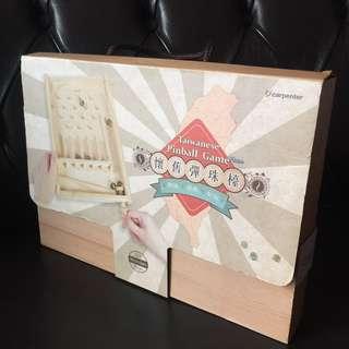 木匠兄妹~原木DIY懷舊彈珠台 復古彈珠檯 桌遊 童玩 實木玩具~附手提紙盒包裝