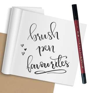 Pens for Brush Lettering - Felt Tip Pens for Hand Lettering Brush Pens (Kuretake, Pilot, Zebra)