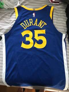 Kevin Durant warriors Authentic stitched jersey size L