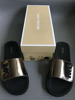 MICHAEL KORS MK Slide Mirror Metallic Nickel