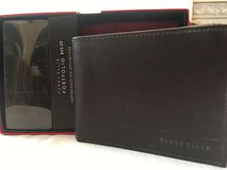 Perry Ellis Leather Passcase (can be a small wallet)