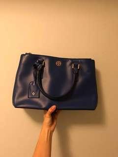 Tory Burch Robinson blue Shoulder Bag 85% new