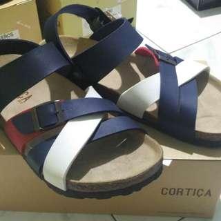 Sepatu sandal cortica tricolor