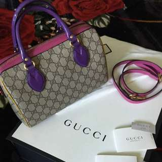 Gucci Boston Top Handle Bag with Sling (Two Ways Carry)