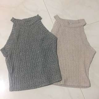 Bershka knitted crop top
