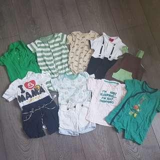 6 mths summer clothes, 70cm