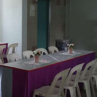Renting Chair Table & Table Skirting