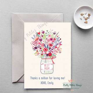 Personalized Mother's Day Card - Thanks a million Mom