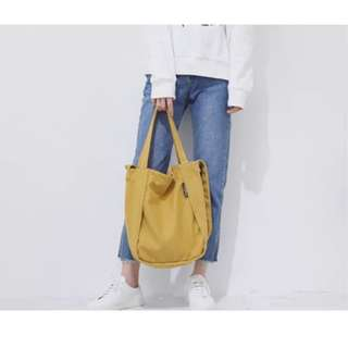 Eggy canvas tote